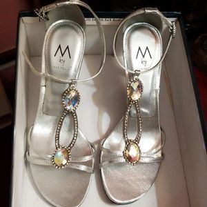 Marinelli Silver/Jeweled Shoes